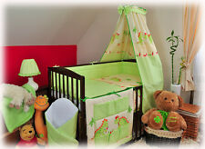 22-part set: Baby cot with drawer OLA 4 colours+mattress +20 piece bedding set
