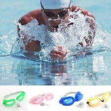 Colors! Unisex Adjustable Summer Swimming Swim Goggles Set Earplugs&Nose Clip