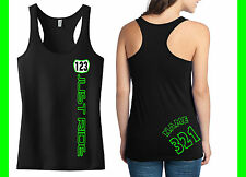 JUST RIDE NUMBER PLATE RACERBACK TANK SHIRT MX MOTOCROSS YZF CRF KXF KTM BIKE