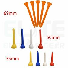 Plastic Golf Tees 35mm/50mm/69mm Sizes Available - Various Qty's **FREE UK P+P**
