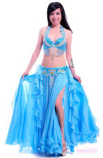 New Belly Dance Costume 2 Pics Bra&Belt 34B/C 36B/C 38B/C 40B/C 11 Colours