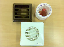 Vent Axia Toilet / Bathroom Extractor Fan, Flexiduct and Grille Kit