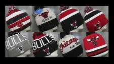NBA Chicago Bulls Knit Cap Beanie Hat with Pom - One Size Fits Most (OSFM)