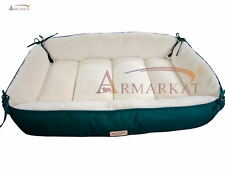 Armarkat D04HML/MB Laurel Green & Ivory Heavy Duty Canvas Dog Bed