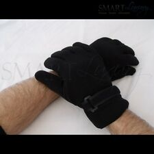 New Mens Black Soft Winter Polyester and Suede Gloves | 2 Sizes | Sports Glove