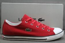 NEW! MEN'S LACOSTE L27 SRM TEXT! RED-WHITE! Style# 7-20SPM3415-047 READY TO SHIP