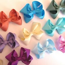 "2.5"" Small Hair Bows for Pigtails, Girls, headbands, and Dogs on clips LOT"