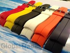 HIGHEST QUALITY CURVED END PU RUBBER DIVE WATCH STRAP 20mm, 22mm for/OMEGA