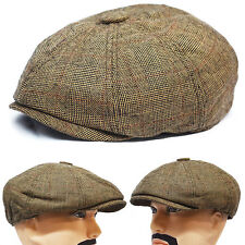 New 8 Panel Applejack Newsboy Gatsby Cabbie Driving Casual Golf Ivy Cap Hat NWT