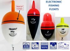 ELECTRONIC FISHING BOBBER FISHING FLOAT LED LIGHT WATER ACTIVATED Day / Night