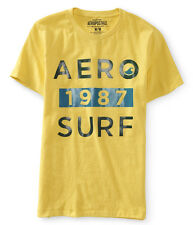 NWT Aero Aeropostale Short Sleeve Yellow  Aero 1987 Surf Graphic Tee T Shirt