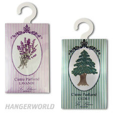 HANGING SCENTED WARDROBE CLOTHES FRESHENER MOTH REPELLENT COAT CAR HANGER SACHET