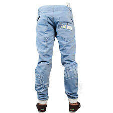 BRAND NEW MENS ETO EM386 CUFFED BLUE JEANS ALL SIZES 28 TO 38
