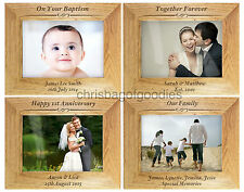 PERSONALISED Engraved WOODEN Wood Photo Picture FRAME Gifts For Frames Gift Idea