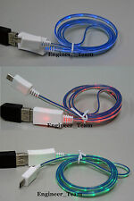 SYNC LED Micro USB Charger Data Cable Cords For Smartphone Samsung HTC LG Nokia