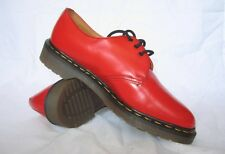 Vintage Dr. Doc Martens Men's Women's Red Gibson Shoe UK 6 & 9 MADE IN ENGLAND