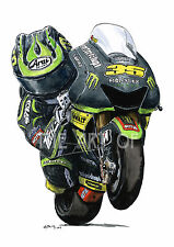 Cal Crutchlow - 2013 Tech3 Yamaha YZR-M1 Cartoon by Billy fine art print