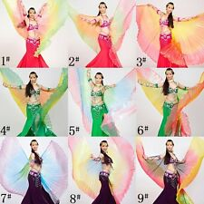 SW04# Belly Dance Costume 360° Gradient Colourful Isis Wings 9 Colors
