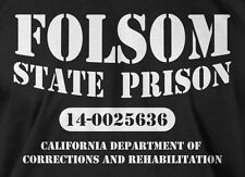 Folsom State Prison T-shirt Country Music Western Mens Ladies Tee Funny T-shirt