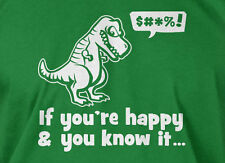 Trex If You're Happy And You Know It T-shirt Trex Can't Clap Mens Ladies T-shirt