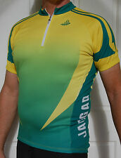 Jaggad Green & Gold Australian Colours cycling bike Jersey SLIM FIT