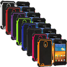 Hybrid Rugged Hard/Soft Cover Case for Samsung Sprint Galaxy S2 II Epic Touch 4G