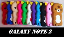 ★ COQUE HOUSSE ETUI SILICONE OURSON OURS BRUN 10 COULEUR PR GALAXY NOTE 2 N7100