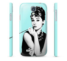 Audrey Hepburn on Teal - Hard Cover Case for iPhone, Android, 65+ other phones