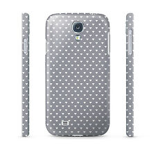 Mini Hearts on Grey - Hard Cover Case for iPhone, Samsung, 65+ other phones