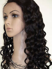 "cheap french lace front wig 10""-24"" Deep wave indian remy human hair 5 colors"