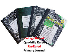 Composition Note Books College Ruled, Quadrille Ruled, Unruled, Primary Journal