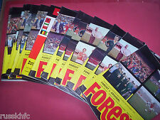 NOTTINGHAM FOREST 1978/79 HOME PROGRAMMES CHOOSE FROM LIST