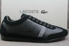 New Men's Lacoste MISANO 22 SRM LTH/SUEDE! BLACK Sty# 7-26SRM3041-024! AUTHENTIC