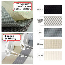 5 colors 60cm - 210cm (Width) x 210cm (Drop) Sunscreen Roller Blind  - NEW