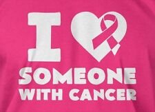 I Love Someone With Cancer Breast Cancer Mens Ladies Fundraiser Run Cure T-shirt