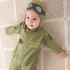 Baby Boy Pilot Military Air Force Army Halloween Party Costume Outfit Set 3-18M