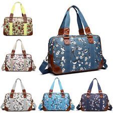 Ladies Girls Oilcloth Travel School Backpack Shopper Bag Satchel Owl Print