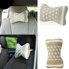 Car Message Seat Head Neck Rest Cushion Pillow Pad Support Headrest Cover Home