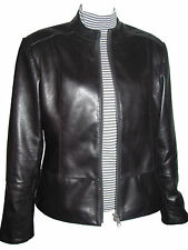 Big Woman & All Size 4038 Female Best Black Leather Motorcycle Jackets & Coats L