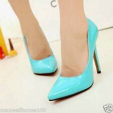 New Women's High Heels Pointed Toe Stilettos Pump Shoes Simple Evening Sexy 1nQ