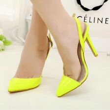 Nice Women's High Heels Pointed Toe Stilettos Slingbacks Buckle Shoes Simple 1nR