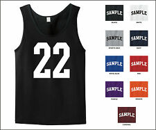 Number 22 Twenty Two Sports Number Jersey Tank Top Front Print