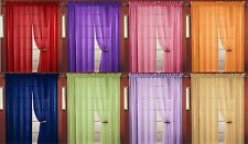 10 PC SHEER VOILE WINDOW CURTAIN PANEL, 18 COLORS, GREAT QUALITY SHEER CURTAIN