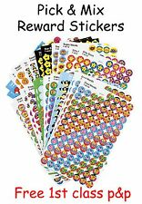 School Teacher Reward Stickers Pick n Mix - Stars, Smiles, Sparkly, Foil & More
