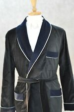 New York Smoking Jacket –  Black / Navy Shawl – Velvet ( # ODHO )