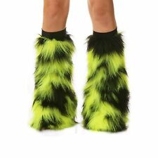 Selena Rave Furry Fluffy Boot Cover Fluffies With Black Kneebands