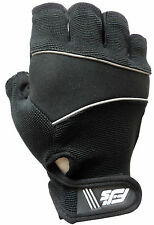 BLACK GEL PADDED CYLING / CYCLE / WEIGHT LIFTING / GYM / WHEELCHAIR BIKE GLOVES