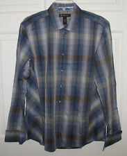 NWT INC INTERNATIONAL CONCEPTS L/S BUTTON UP SHIRT FRENCH CUFF BLUE DESIGN $60