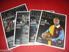 2013/14 - DERBY HOME PROGRAMMES CHOOSE FROM