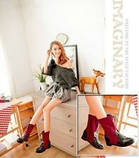 2013 fall new spell color patent leather lacing women boots within the higher